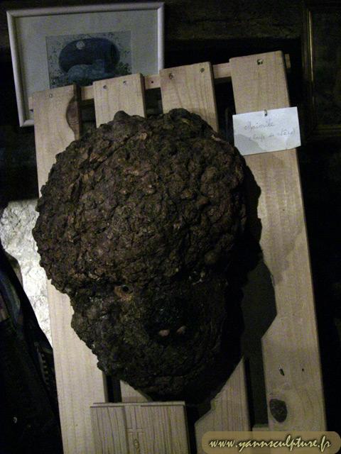 Mimile ; Sculpture en Ronce de chêne.